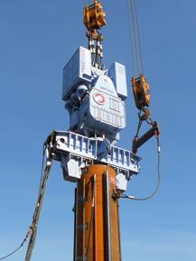 ZERO-320ⅡMRによる鋼管杭施工