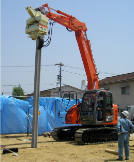 SR-04Pによるコンクリート杭施工